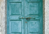 Doors - Old turquoise - Italy
