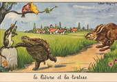 Puzzle Le lièvre et la tortue