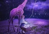 Puzzle la petite fille et la girafe
