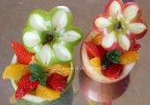 pommes fleurs