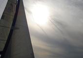 voilier au crépuscule