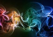 fumée multicolore