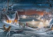 Puzzle paysage de neige