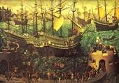 Vaisseaux anglais du XVIe siècle.