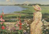 dame et fleurs