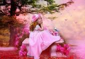 la fille en rose