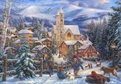 village en hiver