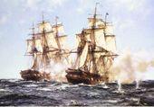 Montague Dawson, combat naval