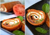 roulé de tomate mozza basilic