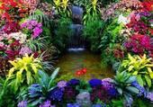 Puzzle cascade de fleurs