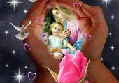 Puzzle vierge et l'enfant