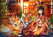 Puzzle family tiger