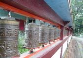 Moulins de prières à Gangtok