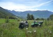 Quad dans les Alpes