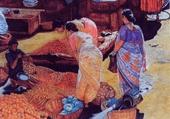 Sur un marché indien