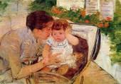 mère réconfortant bébé-Cassatt M.