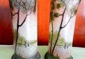 2 vases à fleurs 1