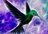 Puzzle fractale d'oiseau