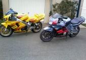 ma moto et celle de mon fils