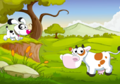 Puzzle vache et chien
