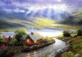 Puzzle maisonnette en montagne