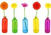 Puzzle fleurs multicolores