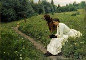 la fille et le chien