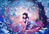 Puzzle manga bleuté