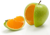 Pomme/orange
