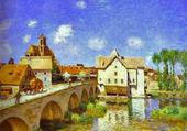 le Pont de Moret par Sisley