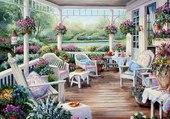 terrasse fleurie
