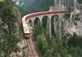 Train de montagne en suisses