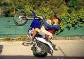 une balade en moto