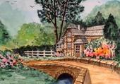 Aquarelle Flo Le Vieux Moulin