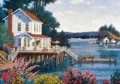Puzzle maison au bord de l'eau
