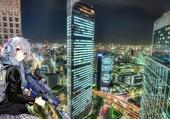 Puzzle tokyo skyline