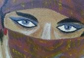 regard bleu persant
