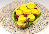 macaron citron framboise