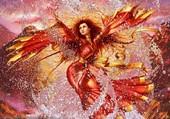 femme phoenix sortant des flots