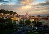 crépuscule à Nice