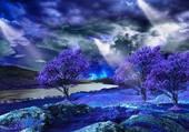 nature en bleue
