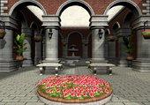 cour fleurie