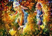 Leonid AFREMOV Jeunes filles