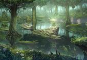 Puzzle  dessin forêt