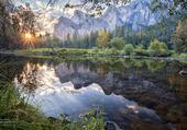 Puzzle Soleil-lac-montagne