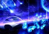papillons bleu