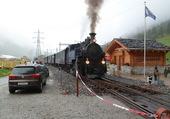 train a vapeur  en Suisse