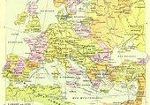 Carte de l'Europe en 1270
