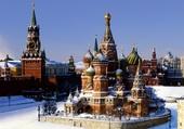 La place Rouge sous la neige