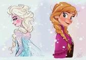 la reine des neiges et sa sœur